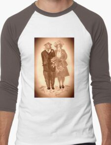 The Guinea Pig Wedding (Sepia) Men's Baseball ¾ T-Shirt