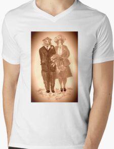 The Guinea Pig Wedding (Sepia) Mens V-Neck T-Shirt
