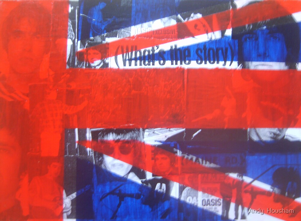 Collage Union Jack by Andy  Housham