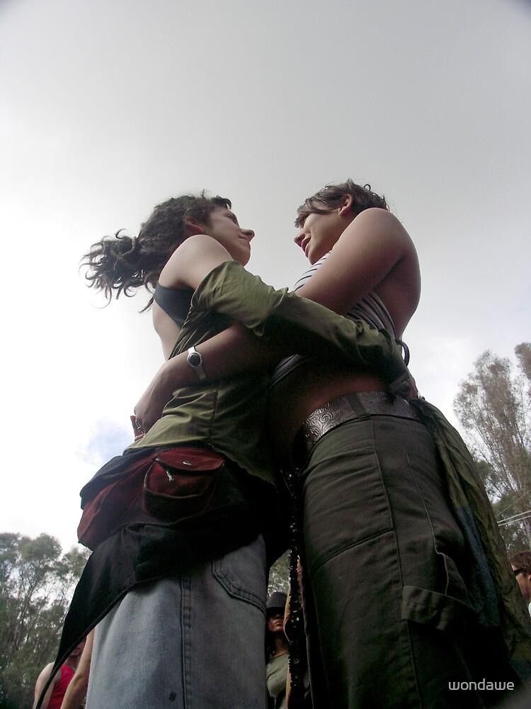 Intertwined Embrace by wondawe
