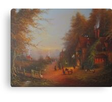 At The Sign Of The Prancing Pony.(An Encounter With Strider.) Canvas Print