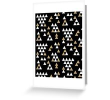 Triangles - geometric triangles in scattered free style gold black white bold modern colors Greeting Card