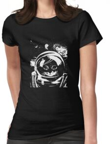 Space Kitten Womens Fitted T-Shirt