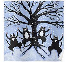 Cats Winter Celebration Poster