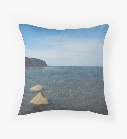 Still blue sea Throw Pillow