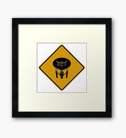 Starship Crossing Framed Print