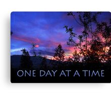 One Day at a Time Spring Sunrise Canvas Print