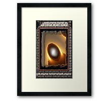 The All Knowing Visits Framed Print