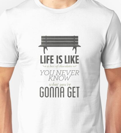 "Forrest Gump: ""Life Is Like a Box of Chocolates"" Unisex T-Shirt"