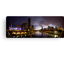 Yarra River by night Canvas Print