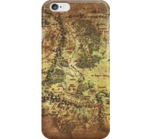 Distressed Maps: Lord of the Rings Middle Earth iPhone Case/Skin