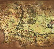 Distressed Maps: Lord of the Rings Middle Earth by Alice Edwards