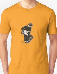 Guitarman (in greyscale) Unisex T-Shirt