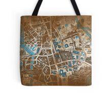 Distressed Maps: His Dark Materials Lyra's Oxford Tote Bag