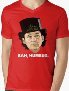Bah, Humbug. Mens V-Neck T-Shirt