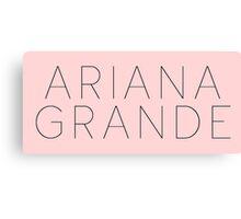 Ariana Grande Logo (Yours Truly Era) Canvas Print