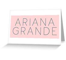 Ariana Grande Logo (Yours Truly Era) Greeting Card