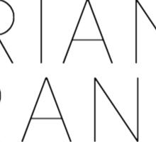 Ariana Grande Logo (Yours Truly Era) Sticker