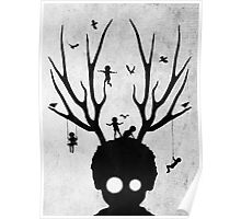 dear imaginary friends (black and white) Poster