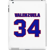 National baseball player Fernando Valenzuela jersey 34 iPad Case/Skin