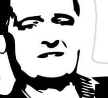 MOFFAT: Doesn't he look tired? (White on dark colors) Sticker