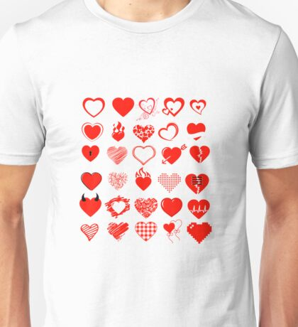 Heart and love Unisex T-Shirt