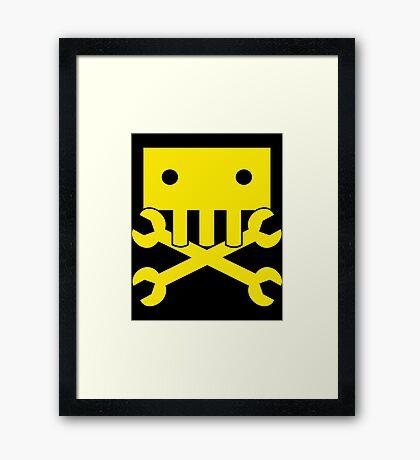 Robot Crossbones Framed Print