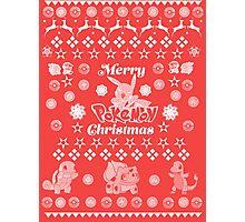 Pokemon Christmas Card Jumper Pattern Photographic Print