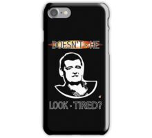 MOFFAT: Doesn't he look tired? (White on dark colors) iPhone Case/Skin