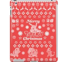 Pokemon Christmas Card Jumper Pattern iPad Case/Skin