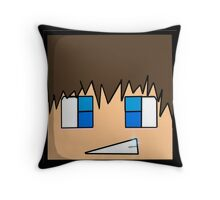 Minecraft head  Throw Pillow