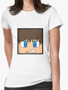 Minecraft head  Womens Fitted T-Shirt