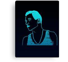 Macklemore Typography Blue Canvas Print