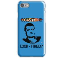 MOFFAT: Doesn't he look tired? (Black on light colors) iPhone Case/Skin
