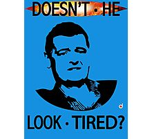 MOFFAT: Doesn't he look tired? (Black on light colors) Photographic Print