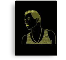 Macklemore Typography Gold Canvas Print