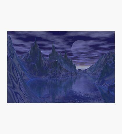Moonlit mountains Photographic Print