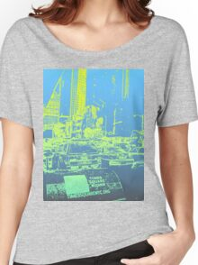 New York City Blue/Yellow Women's Relaxed Fit T-Shirt