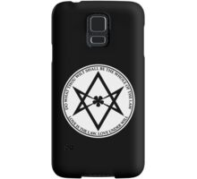 Aleister Crowley - DO WHAT THOU WILT SHALL BE THE WHOLE OF THE LAW - Occult - Thelema (White On Black) Samsung Galaxy Case/Skin