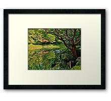 Heian Shrine pond garden, Kyoto, Japan Framed Print