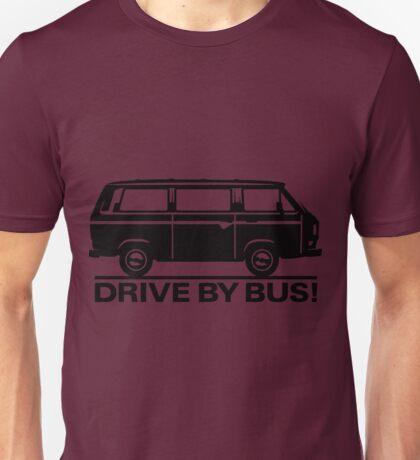 Drive By Bus    Black Unisex T-Shirt