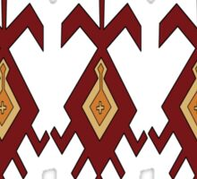 Bukhara motif red line Sticker