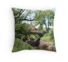 Small old bridge Throw Pillow