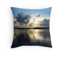 Reflection of a sunset Throw Pillow
