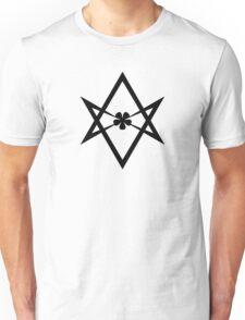 Aleister Crowley - Magick Symbol - Golden Dawn - Occult - Thelema (Black on White) Unisex T-Shirt