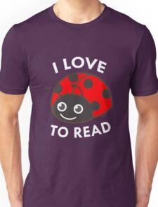 I Love To Read Ladybug Book Lover Bookworm Unisex T-Shirt