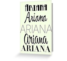 Ariana Grande - Era Logos Greeting Card
