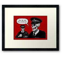 Skeleton Police (Red) Framed Print