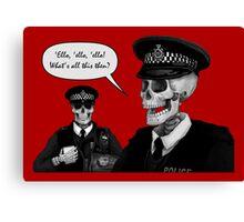 Skeleton Police (Red) Canvas Print