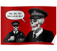 Skeleton Police (Red) Poster
